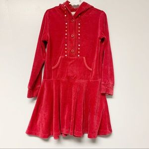 Gymboree cupcake cutie red velour hooded dress 6